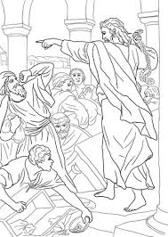temple coloring page jesus chasing the money changers from the temple coloring page
