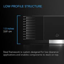 low profile av cabinet aircom s7 receiver and av component fan system top exhaust