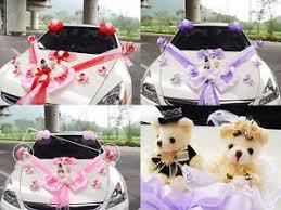Wedding Car Decorations New Wedding Car Decoration Series Cute Bear Kit With Doll 3 Color