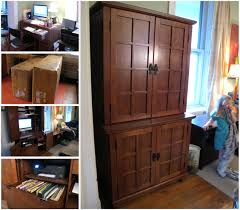 Narrow Computer Desk With Hutch Furniture White Computer Desks Computer Desk With Hutch