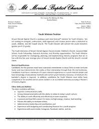 Military Resume Examples And Samples by Sample Pastor Resume Resume For Your Job Application