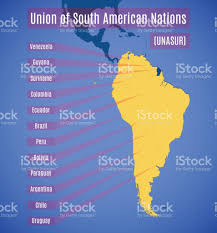 The Map Of South America by Schematic Map Of Union Of South American Nations Stock Vector Art