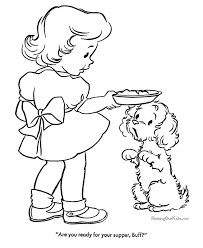 free printable coloring pictures puppy