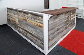 Retail Reception Desk Reclaimed Wood Reception Desk Welcome Desk By Greencleandesigns