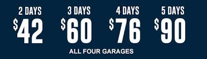 multi day rates millennium garages chicago parking