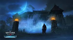 1920x1080 halloween wallpaper the witcher 3 wild hunt hearts of stone 2015 promotional art