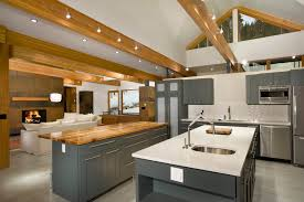 lighting on exposed beams beam lighting ideas kitchen contemporary with exposed beams