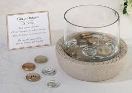wedding signing gold glass signing stones wedding collectibles