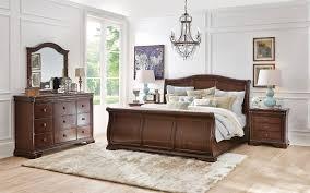 Art Van Bedroom Sets Stratton 4 Piece Queen Bedroom Set Brown Cherry Levin Furniture