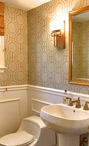 Orange Powder Room Outstanding Wallpaper For Powder Room 84 For Interior Designing