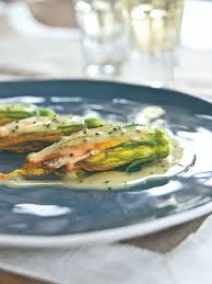 crab stuffed zucchini flowers recipe food republic