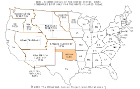map of us federal states the usgenweb census project