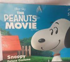 peanuts movie snoopy deluxe toddler costume hooded size 2t