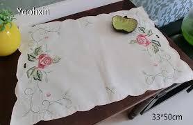 napperon de cuisine de luxe broderie table napperon pad tissu pot tasse titulaire ronde