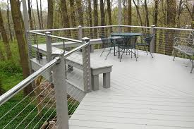 cable railing with stainless rails