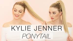 Pony Wrap Hair Extension by Kylie Jenner Inspired High Ponytail With Hair Extensions L Milk