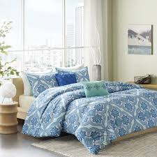 Light Blue Twin Comforter Amazon Com Intelligent Design Lionna 5 Piece Comforter Set Blue