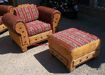 southwestern chairs and ottomans southwestern living room set