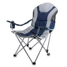 Chairs That Recline Amazon Com Picnic Time Portable Reclining Camp Chair Black Gray