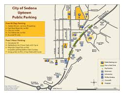 Show Low Arizona Map by City Of Sedona Parking In Uptown