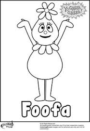 tons yo gabba gabba coloring pages printables