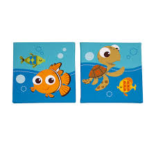 amazon com disney finding nemo wall decals multi baby disney finding nemo 2 piece wall decor blue