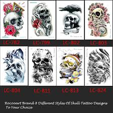 skull arm sleeve aliexpress com buy lc 811 big tattoo sticker cool halloween