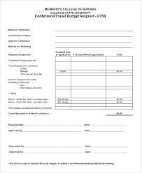 10 conference budget templates free sample example format