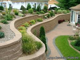 Small Garden Retaining Wall Ideas Backyard Retainer Wall Ideas Build A Retaining Wall Small Backyard