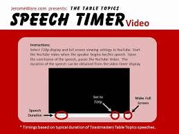 toastmasters table topics tips toastmaster table topics speech timer video youtube