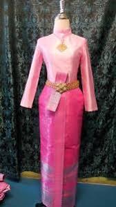Thai Wedding Dress Thai Wedding Dress Traditional Bridal Chut Thai Borompiman Sm5 Ebay