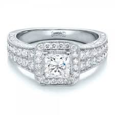 Princess Wedding Rings by Princess Cut Engagement Rings Custom Design In Bellevue And Seattle