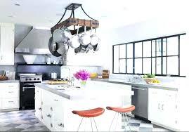 oval kitchen islands simple portfolio hanging pot rack with light kitchen island pot rack lighting