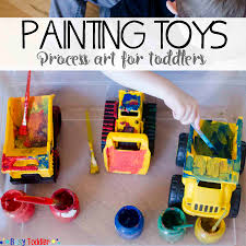 painting toys toddler process art busy toddler