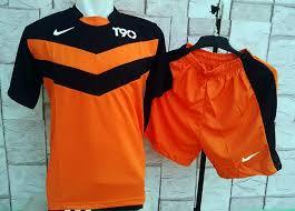 Baju Gambar Nike kostum setelan kaos nike t90 line orange olahraga murah jual