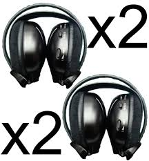 2 headphones wireless car dvd mitsubishi outlander xtrail