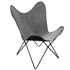 Black Butterfly Chair Butterfly Chair Grey Suede Le Forge