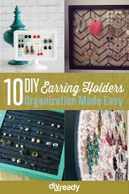 organize stud earrings 10 diy earring holder ideas diy projects craft ideas how to s
