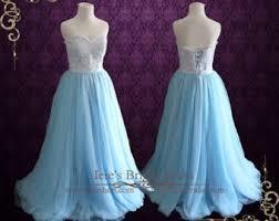 blue tulle dress etsy
