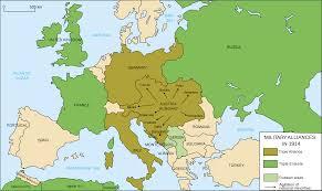 Austria World Map by Europe U0027s Military Alliances In World War I 1914 Full Size