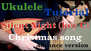 ukulele tutorial silent night key c christmas song