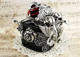 skull gothic rings images Ornate silver crow skull ring box 3 by necrosarium jpg