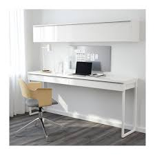 High Gloss White Desk by Bestå Burs Desk Combination High Gloss White 180x40 Cm High Gloss