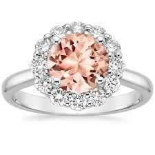 lotus engagement ring morganite lotus flower ring in 18k white gold brilliant earth