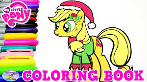 my little pony color book my little pony coloring book applejack christmas episode surprise