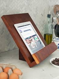 Homemade Phone Stand by How To Make A Modern Tablet Or Cookbook Stand Hgtv