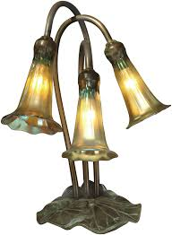 Dale Tiffany Buffet Lamps by Dale Tiffany Ta15131 Gold Lily Antique Bronze Verde Novelty Lamp