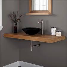 wall mount vessel sink vanity 18 depth bathroom vanity awesome 49 natural edge teak wall mount