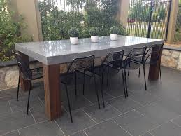 concrete outdoor dining table dining room gregorsnell 42
