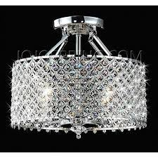 Crystal And Chrome Chandelier Chrome Crystal 4 Light Round Ceiling Chandelier
